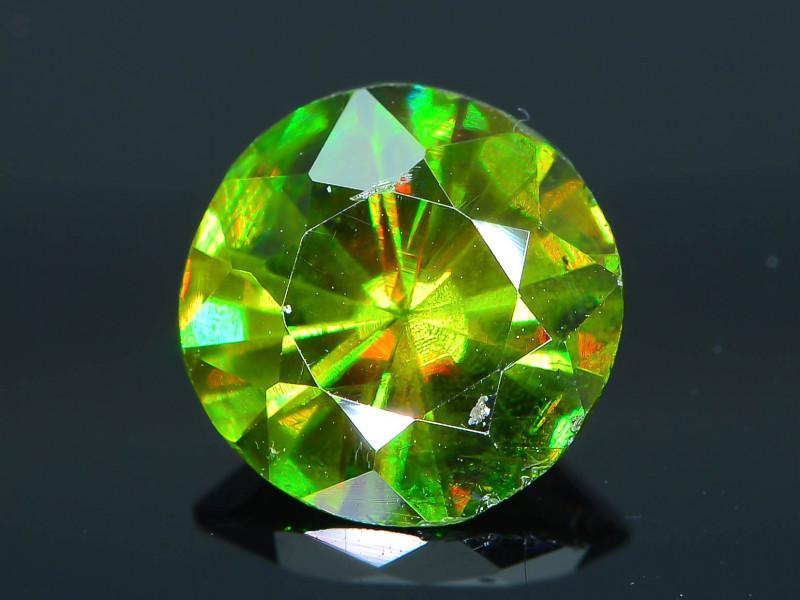 Rare AAA Fire 1.49 ct Chrome Green Sphene Sku-29