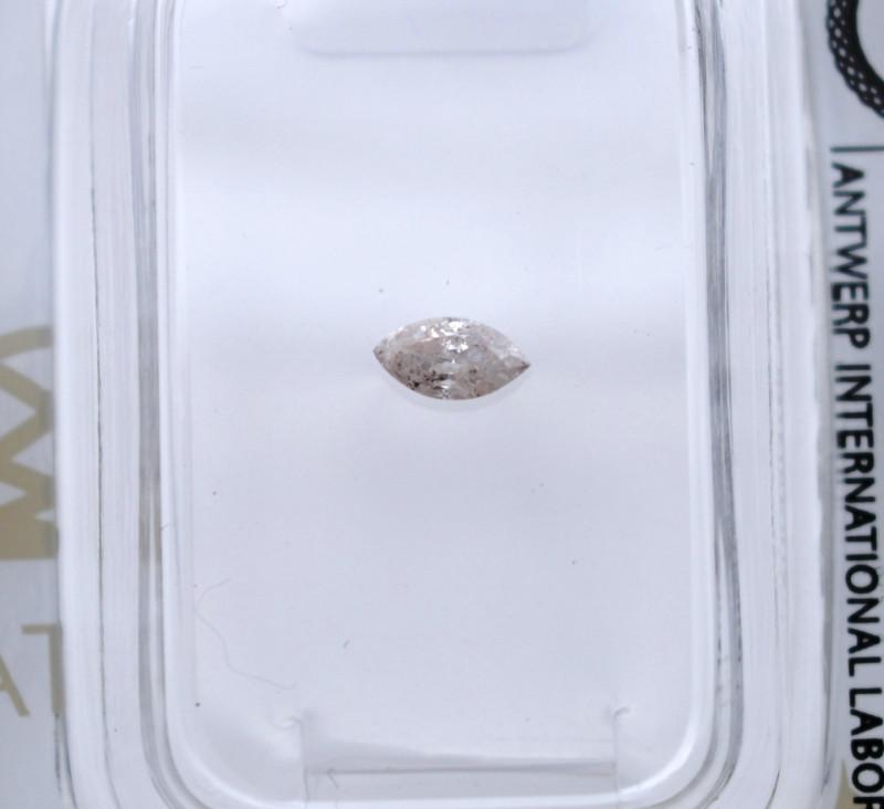 Diamant rose 0,14 carats - Natural Pink Diamond AIG Certified