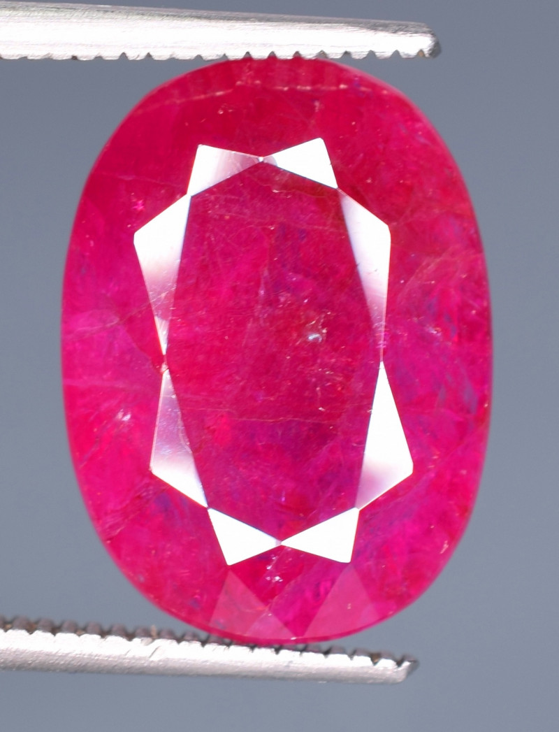 GSGC Certified 8.67 Carats Natural Ruby Red Color Gemstone From Afghanistan