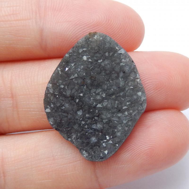 Gray Crystal Druzy Cabochon Raw Gemstone ,Customized Gem B546