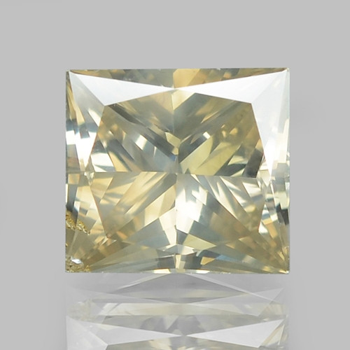 1.10 Cts UNTREATED NATURAL FANCY GREENISH YELLOW COLOR DIAMOND
