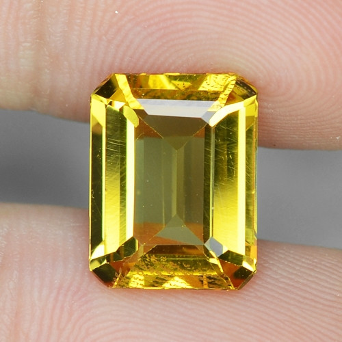 3.68 Cts NATURAL AMAZING RARE GOLDEN YELLOW BERYL LOOSE GEMSTONE