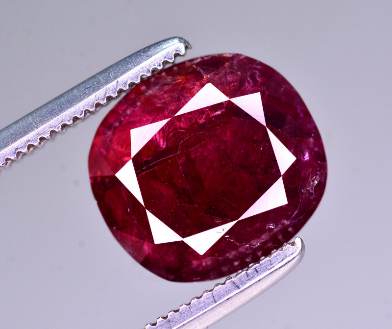Superb Color 3.40 Ct Natural Ruby From Mozambique