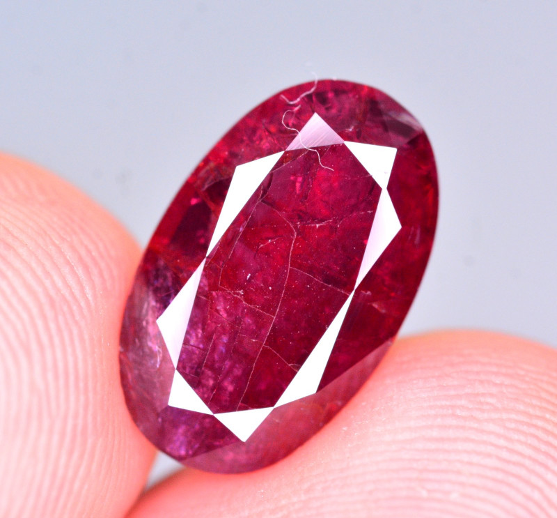 Superb Color 4.95 Ct Natural Ruby From Mozambique