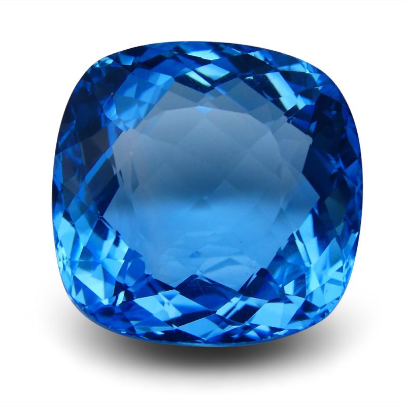 59.8 ct Cushion Swiss Blue Topaz
