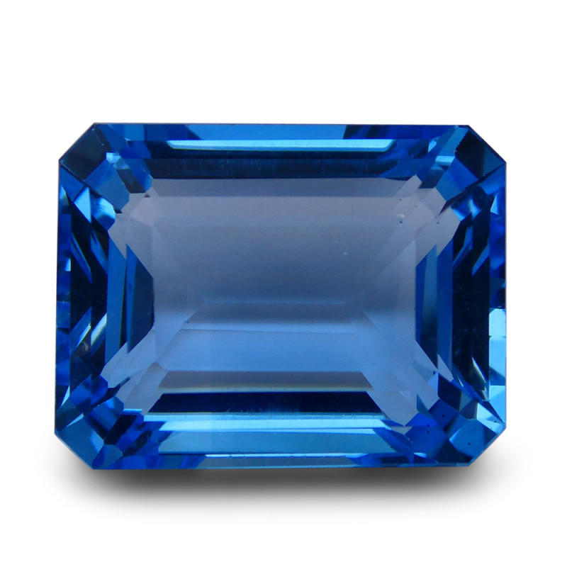 59.93 ct Emerald Cut Swiss Blue Topaz