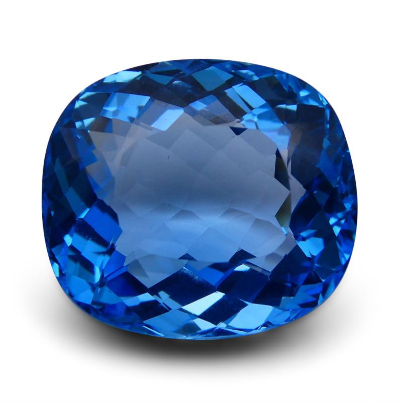 58.17 ct Cushion Swiss Blue Topaz