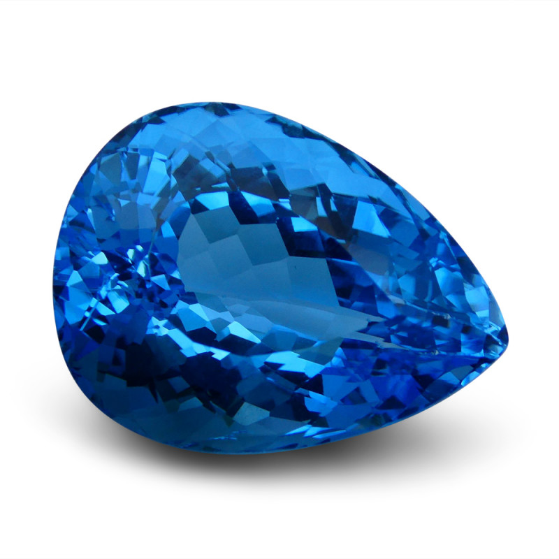 79.85 ct Pear Swiss Blue Topaz