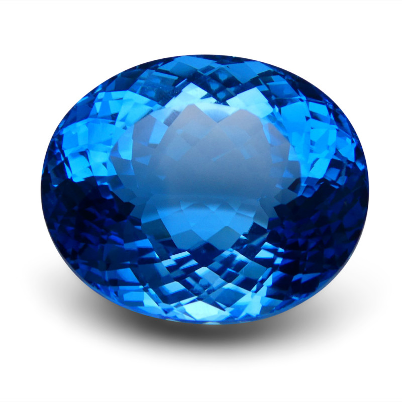 83.06 ct Oval Swiss Blue Topaz
