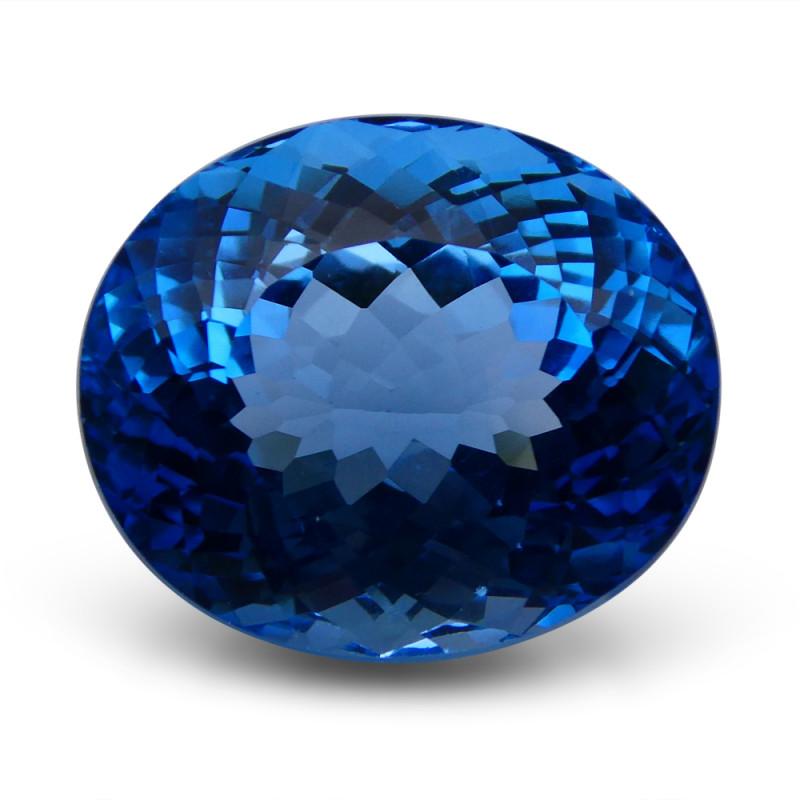 67.75 ct Oval Swiss Blue Topaz