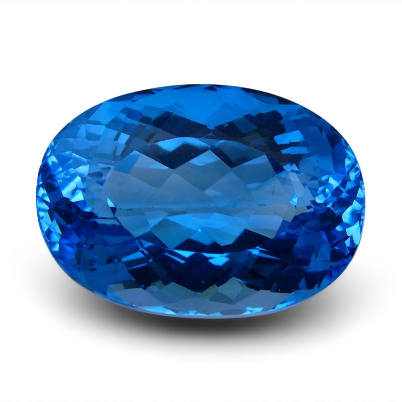 61.65 ct Oval Swiss Blue Topaz