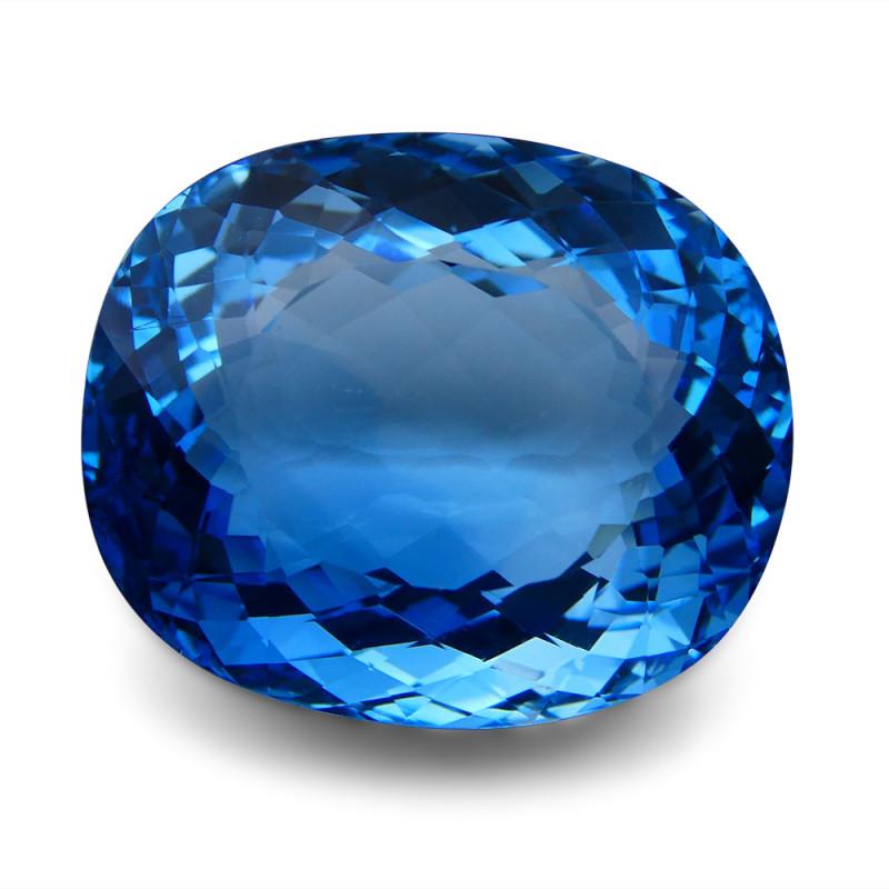 87.06 ct Cushion Swiss Blue Topaz