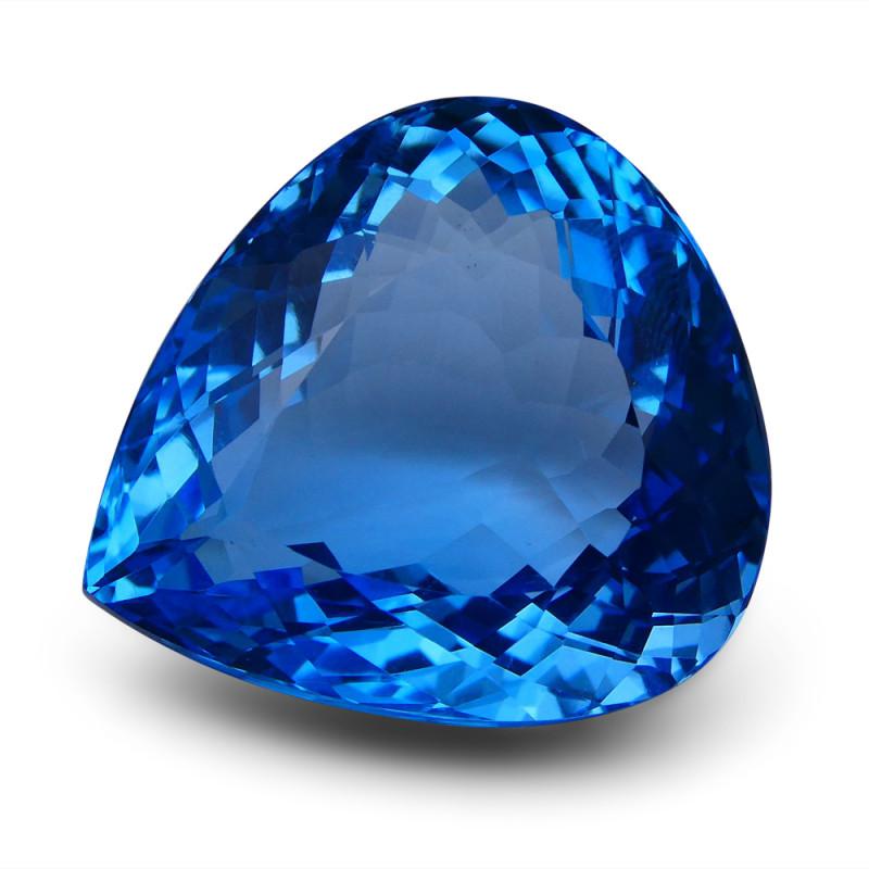 86 ct Pear Swiss Blue Topaz