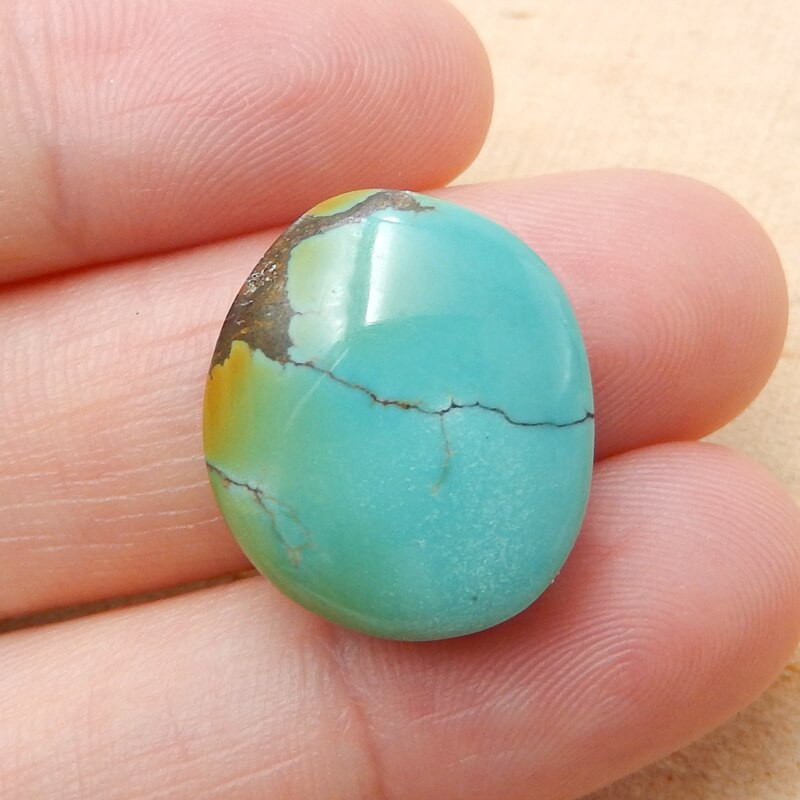 Natural nugget Turquoise Gemstone Cabochon, 18x16x9mm H3828