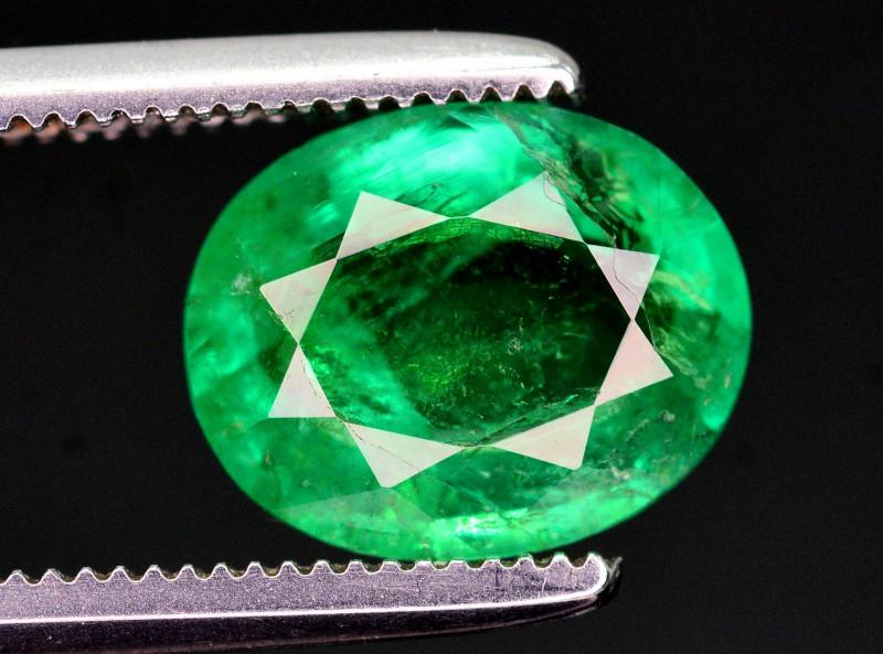Ravishing Green Color 1.50 Ct Natural Panjsher Emerald. ARA