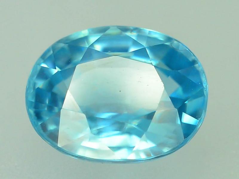 AAA Brilliance 3.45 ct Blue Zircon Cambodia