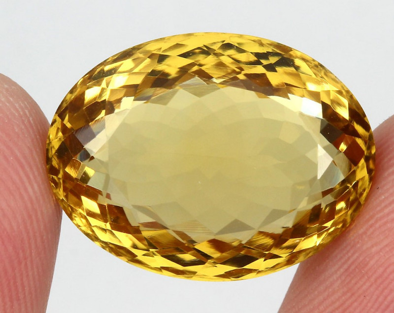 24.69 ct. 100% Natural Unheated Top Yellow Golden Citrine Brazil