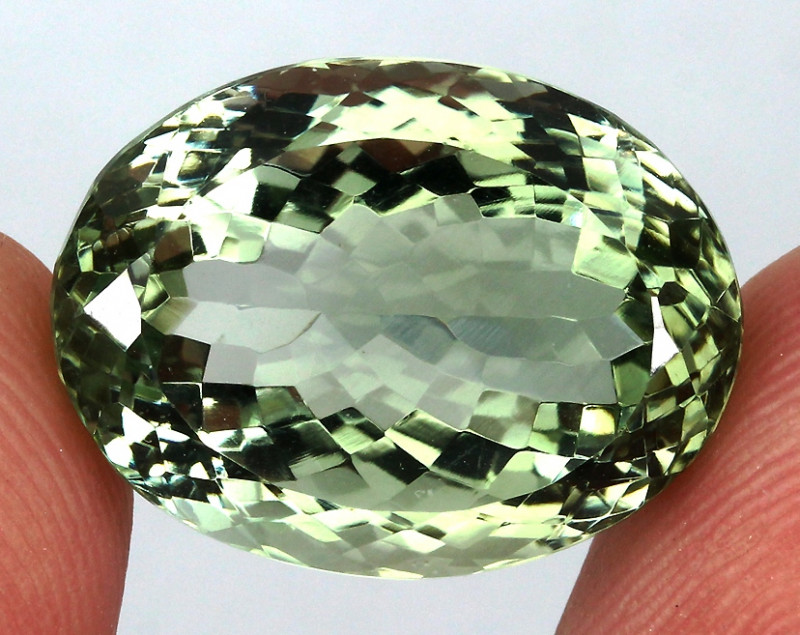 24.43 ct. 100% Natural Earth Mined  Unheated Top Nice Green Amethyst Brazil