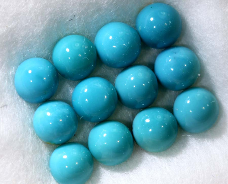 1.91CTS NATURAL  DYER BLUE TURQUOISE TBG-2988