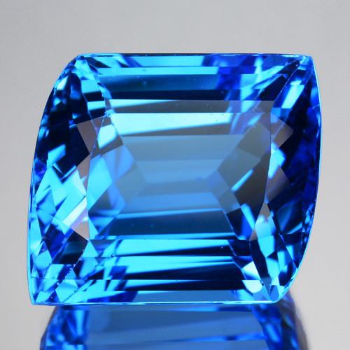 31.13 Cts Natural Swiss Blue Topaz Fancy Cut Brazil