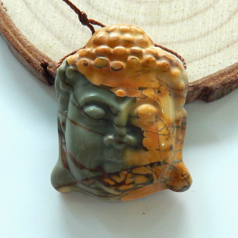 Multi Color Jasper Buddha Head Beads, Buddha Jewelry, Jewelry Findings B567