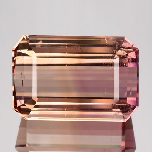 13.67 Cts Natural Bi-Color Tourmaline Octagon Cut Mozambique