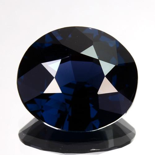 3.16 Cts Natural Deep Blue Spinel Oval Cut Sri Lanka