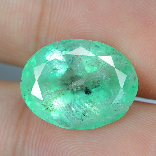 8.15 Cts NATURAL EARTH MINED GREEN COLOR COLOMBIAN EMERALD LOOSE GEMSTONE