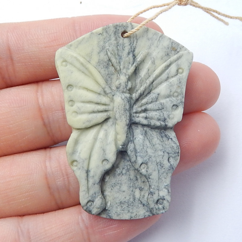 Hand Carved Butterfly Pendant ,Natural Gemstone ,Pendant Bead ,Wholesale B5