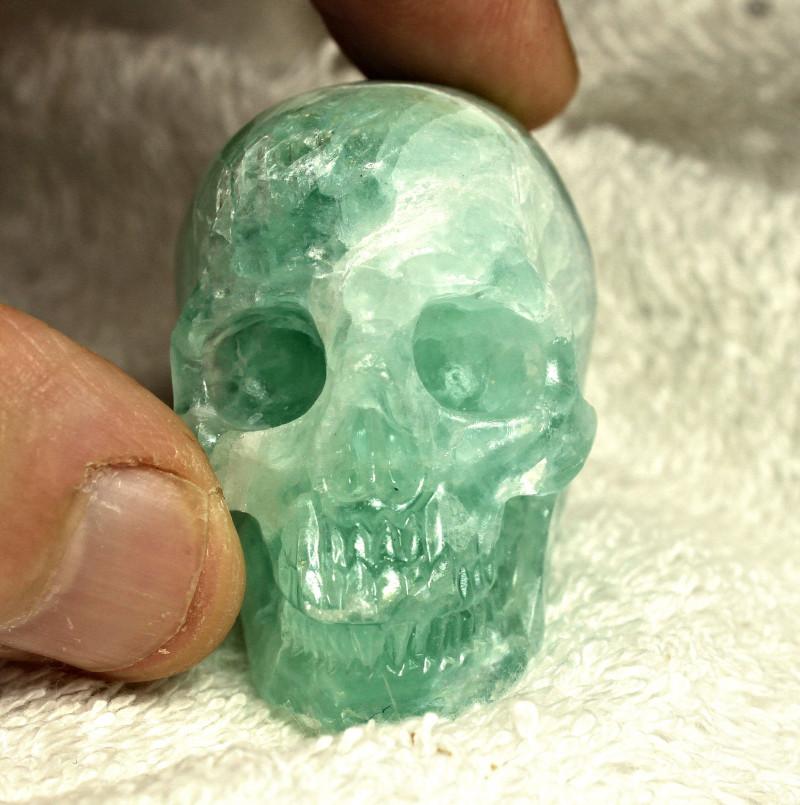 476.0 Carat Fluorite Skull Carving - Cool