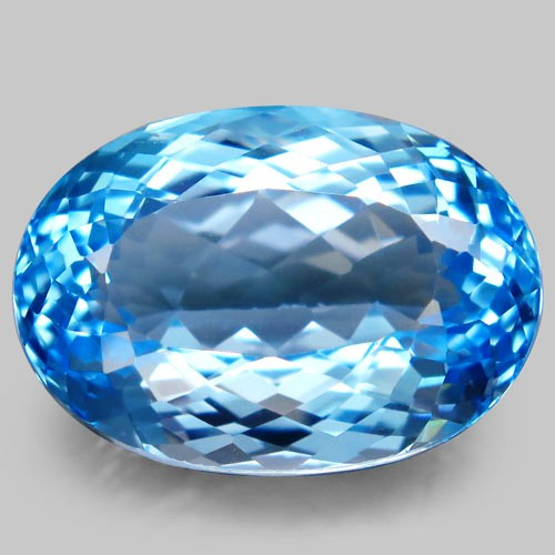 35.01 ct Natural Swiss Blue Topaz – IGE Certificate