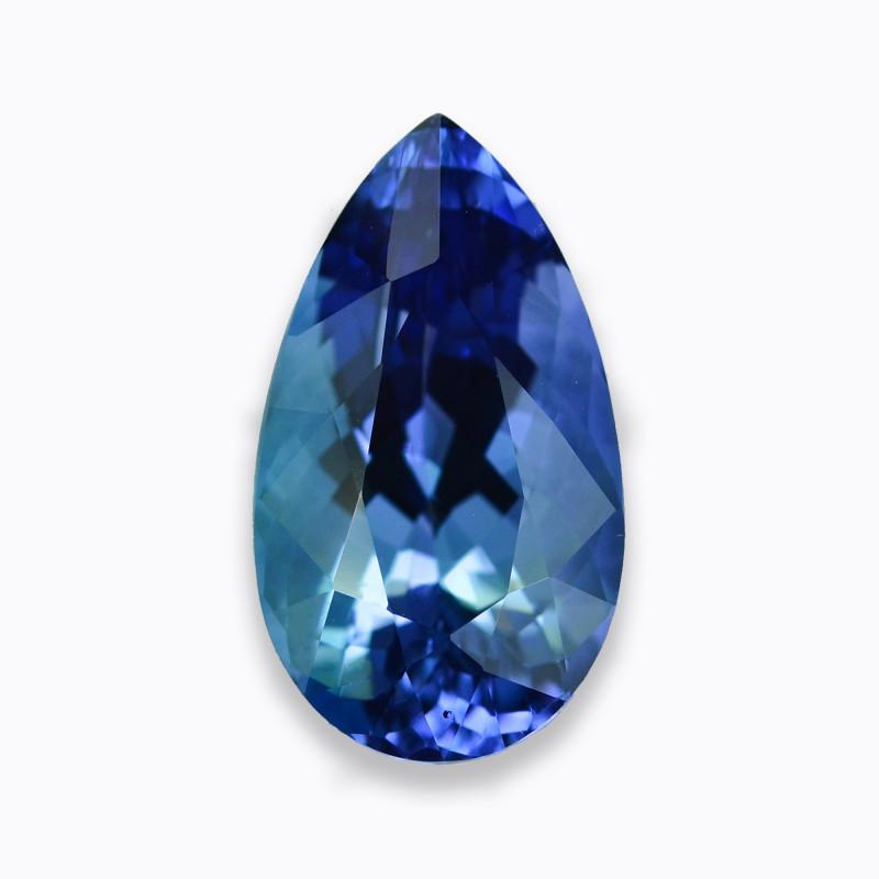 10.36 Cts Fabulous Deep Blue Tanzanite