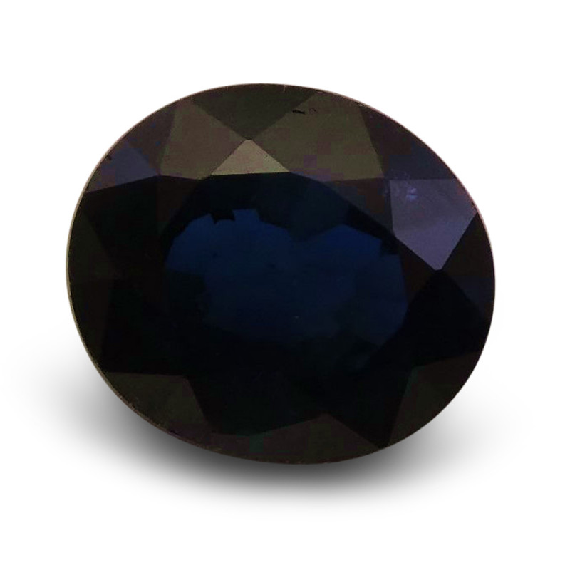 1.66 ct Oval  Blue Sapphire