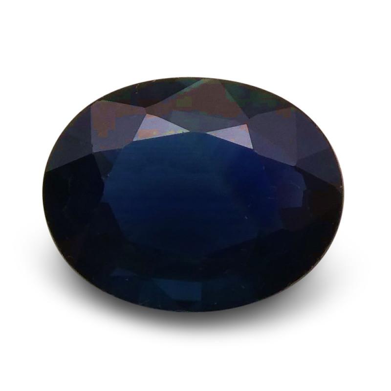 1.54 ct Oval  Blue Sapphire