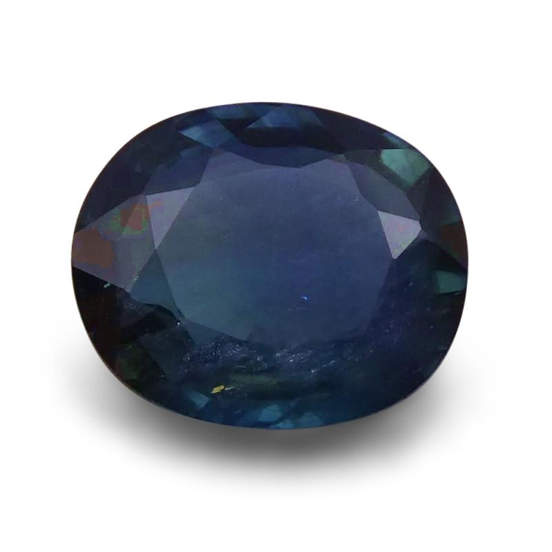 1.77 ct Oval  Blue Sapphire