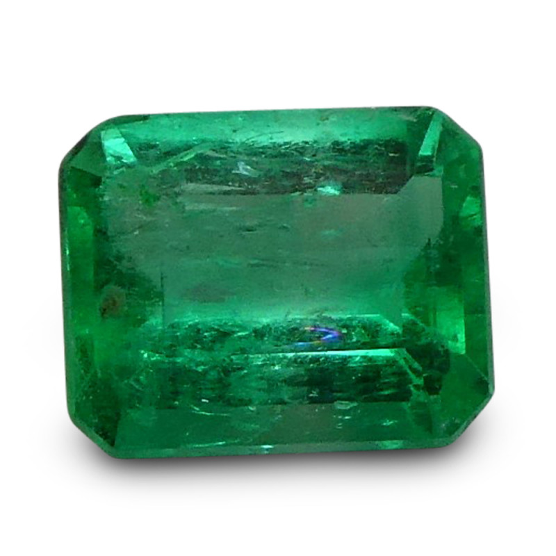 0.67 ct Emerald Cut Colombian Emerald