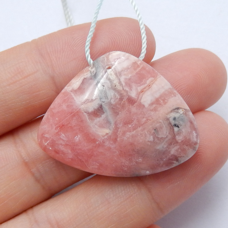 Beautiful Rhodonite ,Handmade Gemstone ,Rhodonite Pendant ,Lucky Stone B597