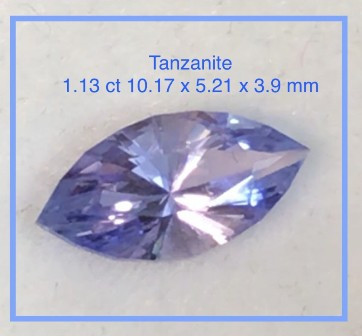 Precision Cut  Lilac Blue Marquise Cut Tanzanite - G424
