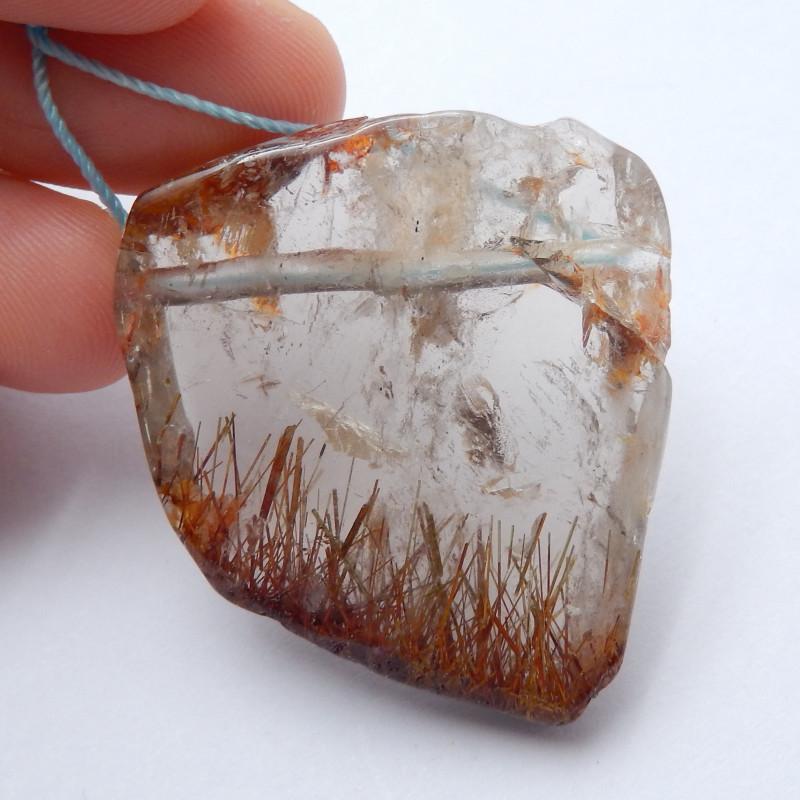 Beautiful  Quartz Rutilated ,Handmade Gemstone Lucky Pendant B606