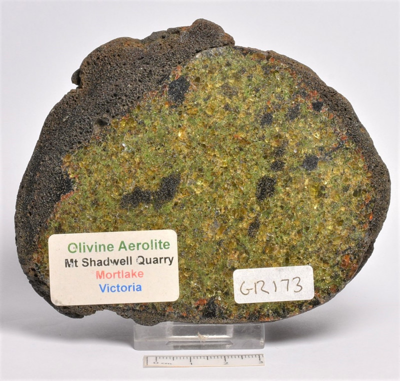 OLIVINE AEROLITE, HALF, MORTLAKE, AUSTRALIA (GR173)