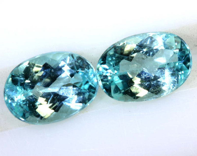 1.70-CTS  PARAIBA  FACETED PAIR  TBM-1637