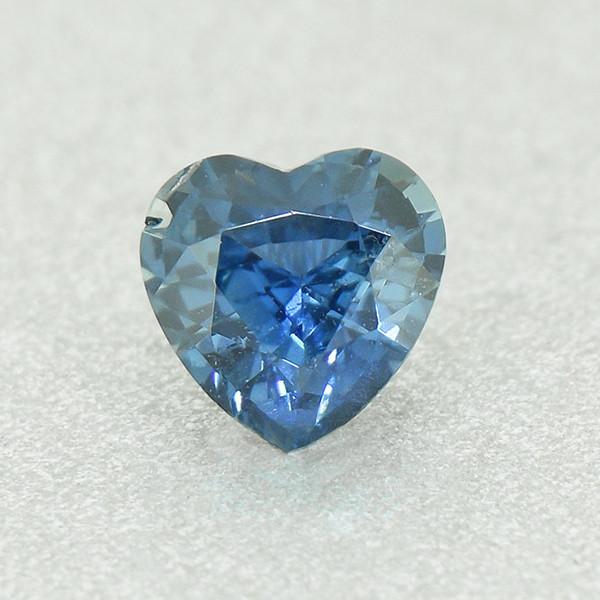 N/R Natural Blue Sapphire Heart .52ct UNHEATED well-cut (01360)