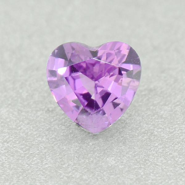 N/R Natural Pink Sapphire Heart UNHEATED 0.51ct (01358)