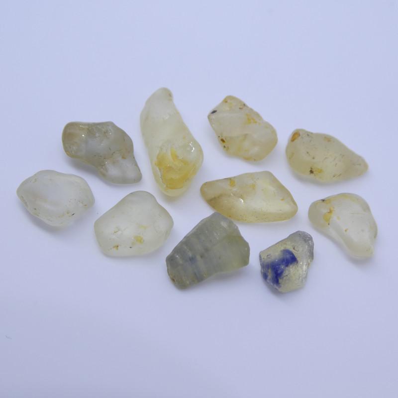 15.05 cts Rough Unheated Yellow Sapphire from Sri Lanka / Ceylon