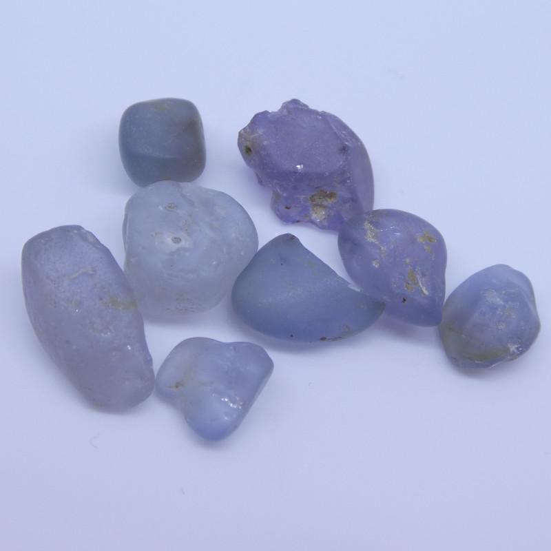 15.02 cts Rough Unheated Grey Blue Sapphire from Sri Lanka / Ceylon