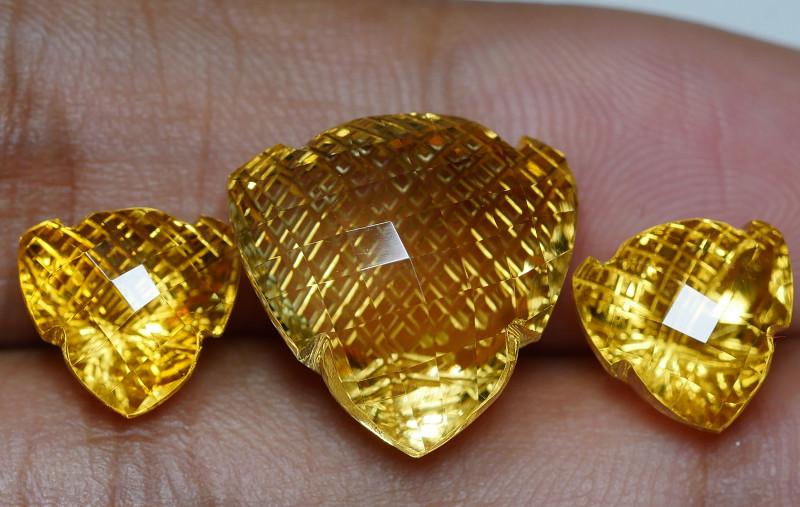 17.55 CRT GOLDEN YELLOW CITRINE-
