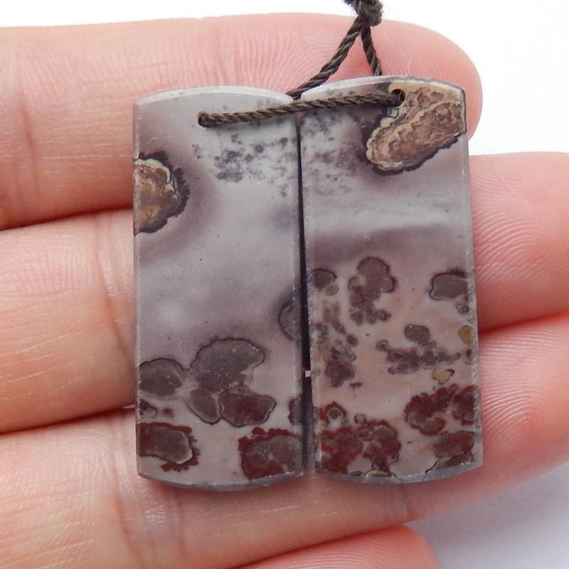 Sale Natural Chohua Jasper Earrings Handmade Gemstone ,Square Earrings Luck