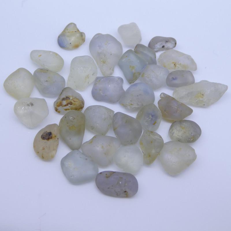 50.23 cts Rough Unheated Mixed Color Sapphire from Sri Lanka / Ceylon
