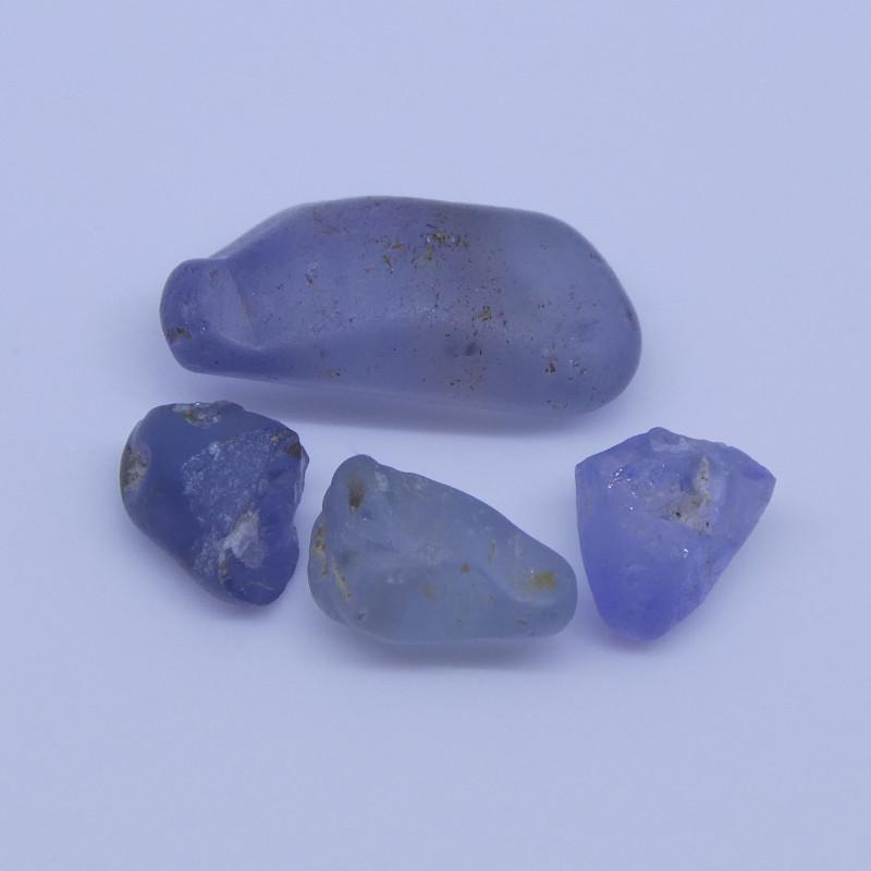 7.1 cts Rough Unheated Blue Sapphire from Sri Lanka / Ceylon