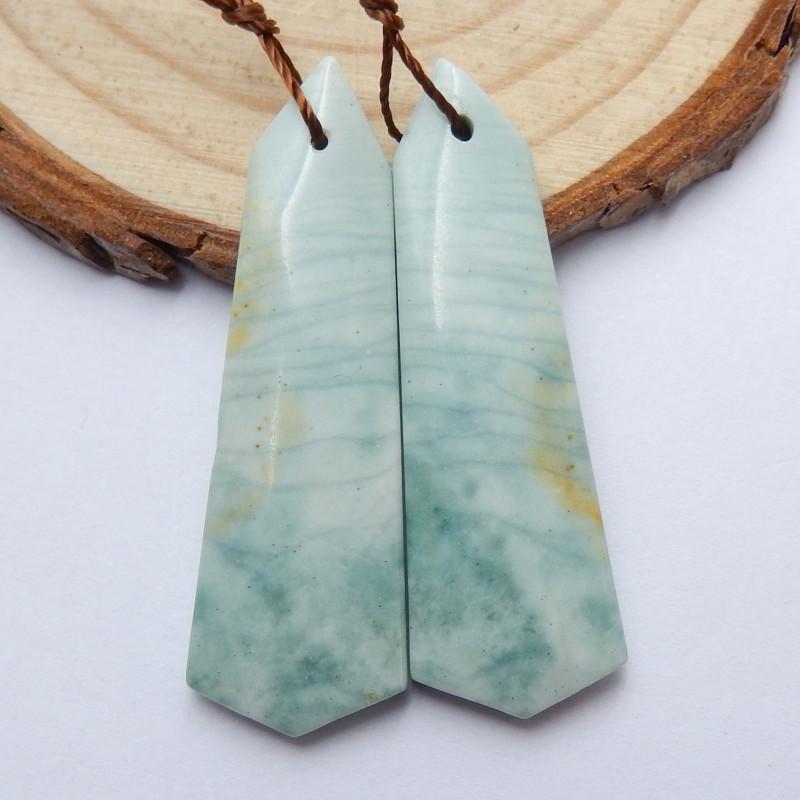 Sale Wave Jasper Earrings ,Handmade Gemstone ,Lucky Stone B695